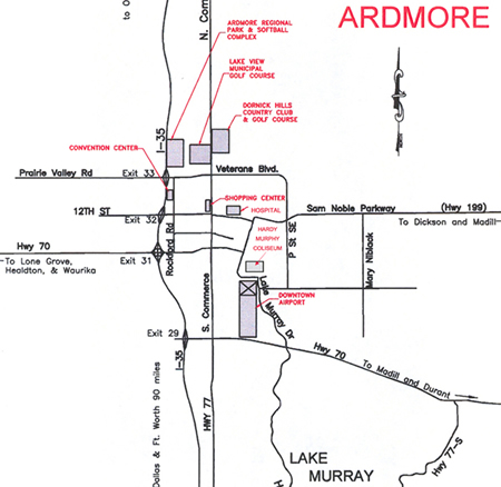 Ardmore Area Map